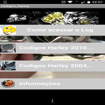 Códigos Harley screenshot 1