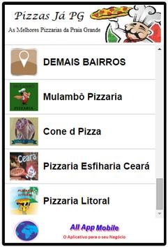 Pizzas Já Praia Grande apk screenshot
