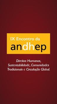 IX Encontro Nacional da ANDHEP poster