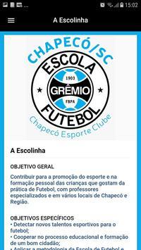 Escolinha Grêmio Chapecó screenshot 3