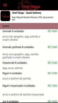 Chef Diogo - Sushi Delivery screenshot 1