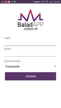 BaladAPP Check-In poster