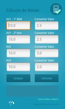 Cálculo de Notas Fac.Integrado apk screenshot