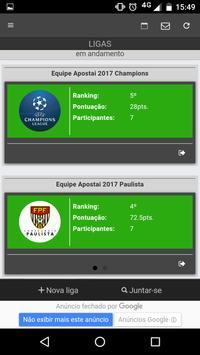Bolão de Futebol - Apostaí apk screenshot
