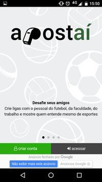 Bolão de Futebol - Apostaí poster