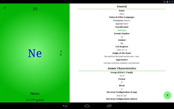 Periodic Table of Chemical Elements - Modern PTE screenshot 10