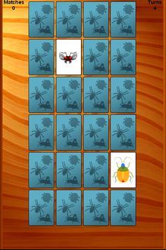 Invertebrate Bug Memory Game apk screenshot