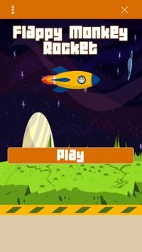 Flappy Monkey Rocket poster