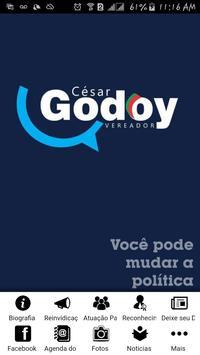 Cesar Godoy Vereador poster