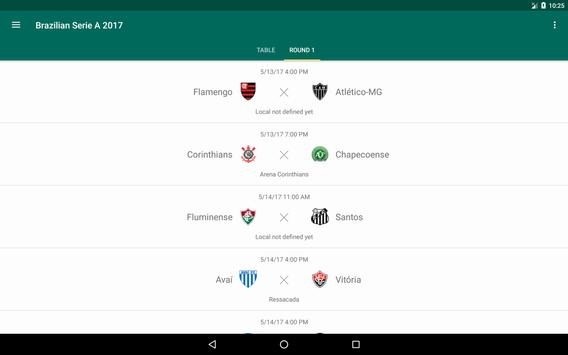 Brazilian Serie A 2017 - Football/Soccer - Fubá apk screenshot