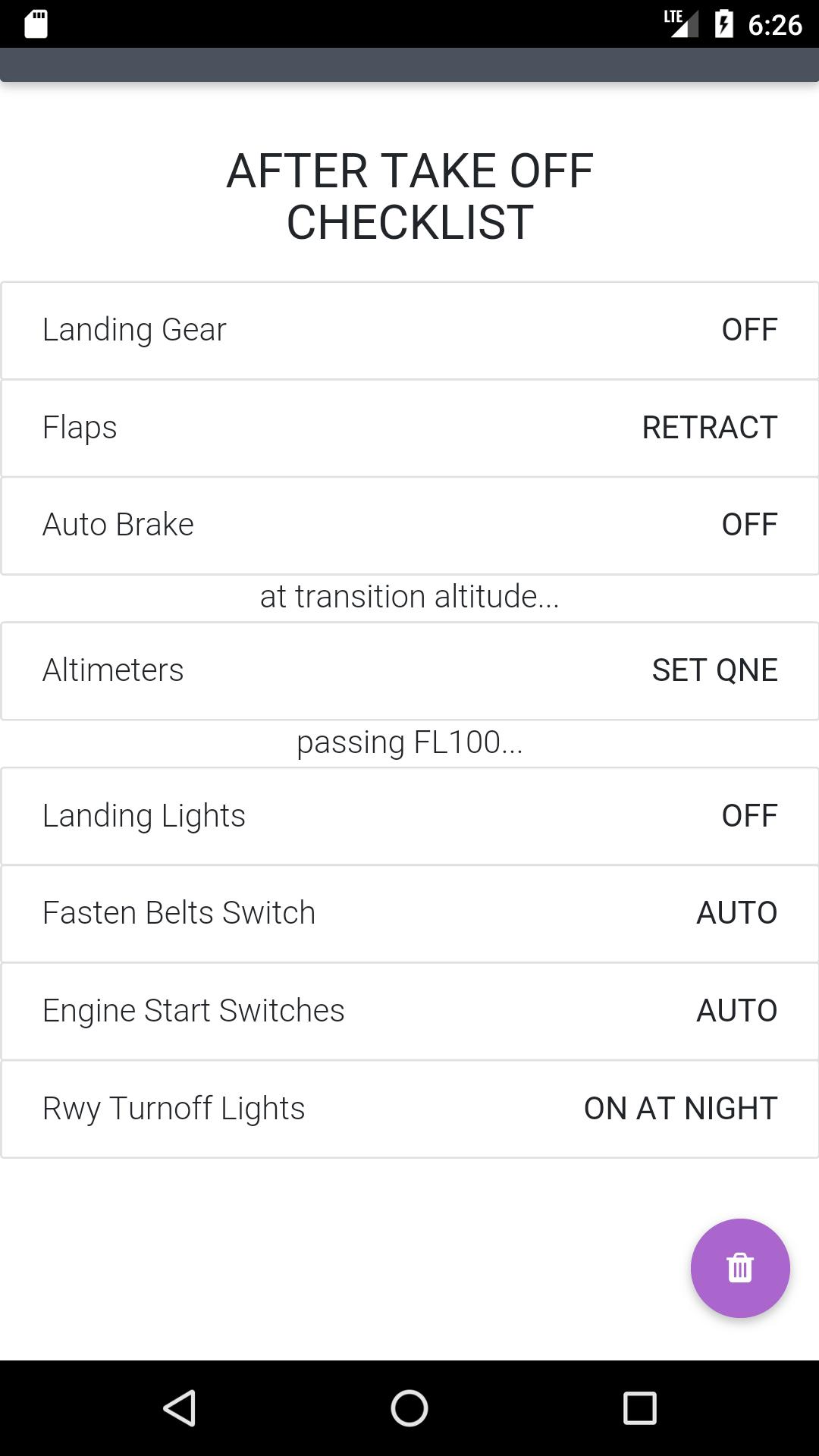 Boeing 737 NG Checklists and Calculator for Android - APK