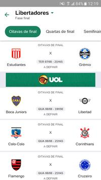Placar UOL - Brasileirão 2018 apk 截圖