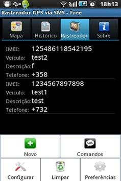 GPS Tracker by SMS - Free apk screenshot