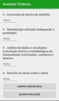 Avaliador IFCiência apk screenshot