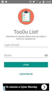 TOODU - Lista de Tarefas poster