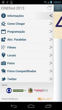 CINEfoot 2013 screenshot 1