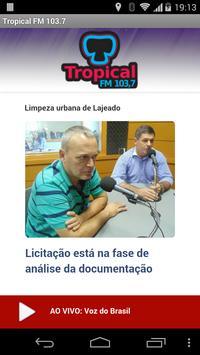 Radio Tropical FM 103.7 poster