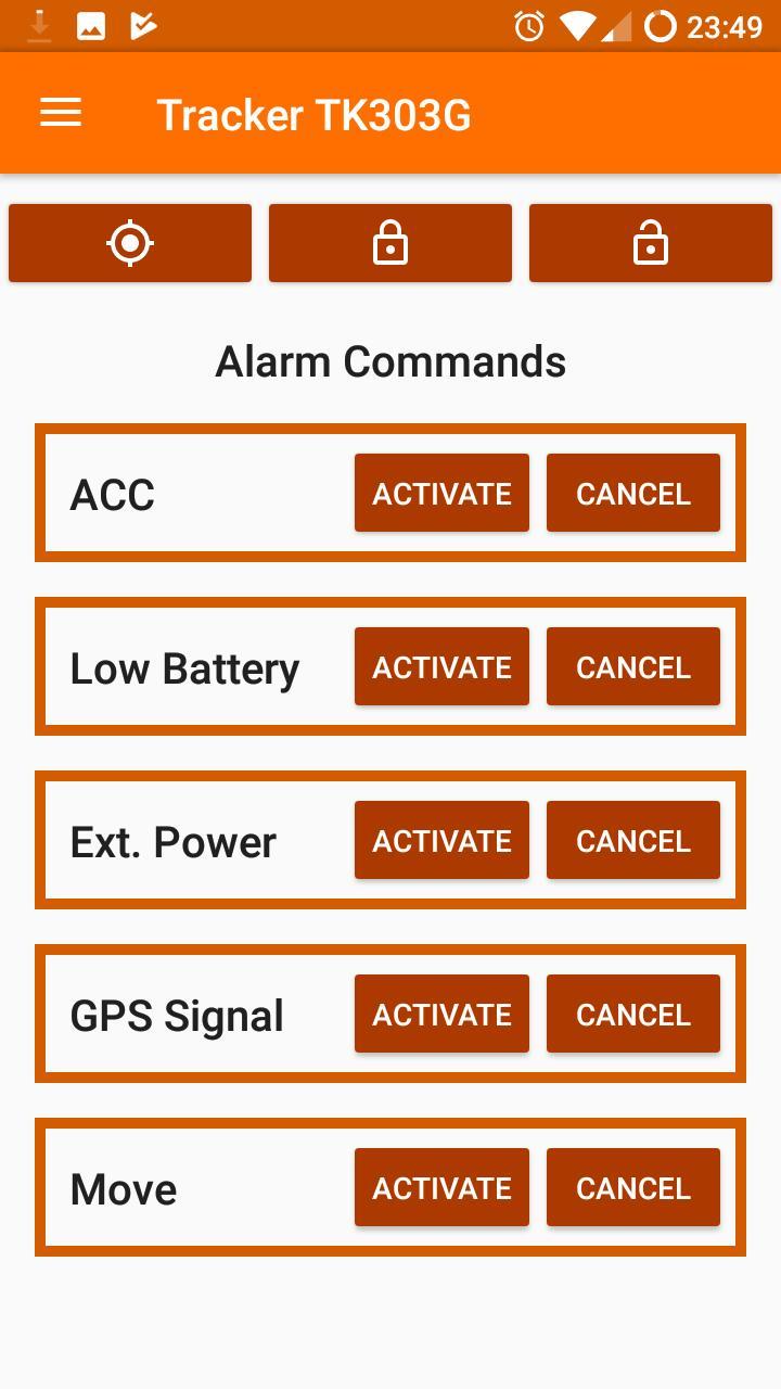 Coban Tracker TK303 Comandos para Android - APK Baixar