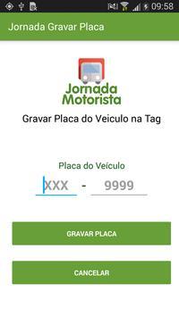 Jornada Motorista Gravar Placa poster