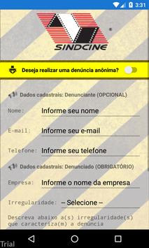 Sindcine Denúncia apk screenshot