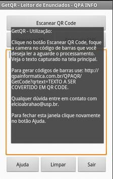 GetQR - Leitor QR Code apk screenshot