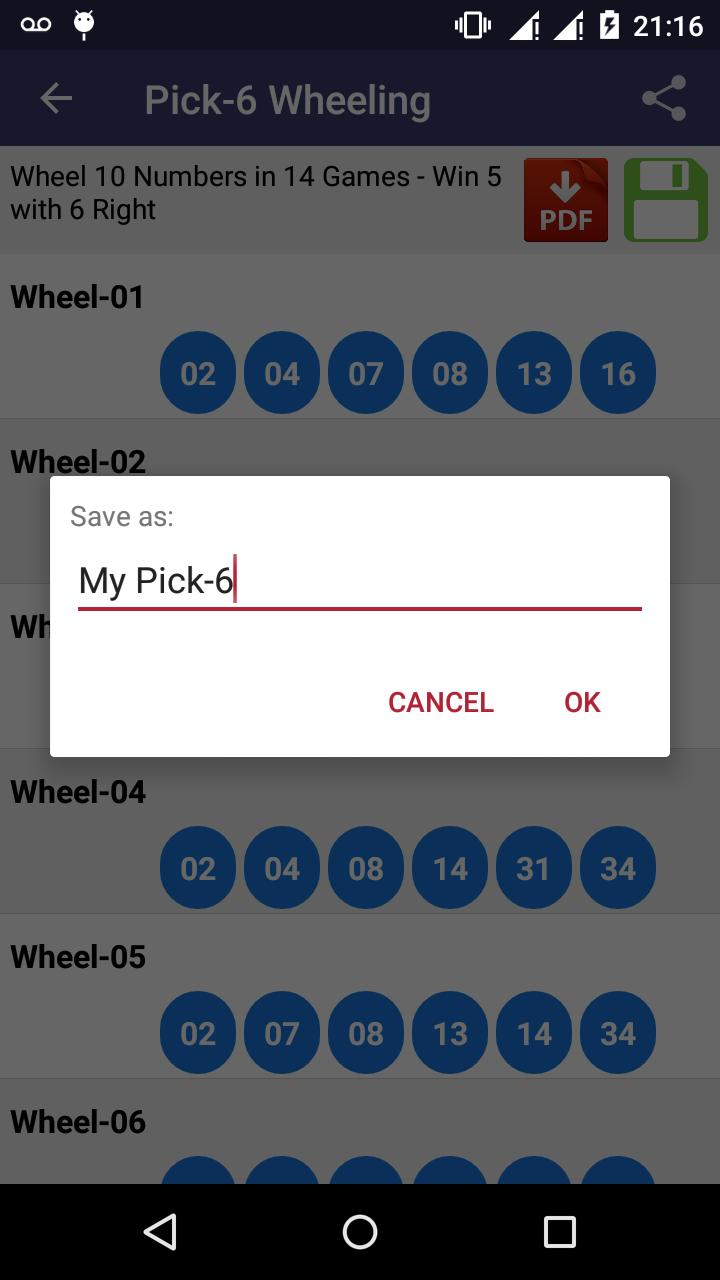 Lottery Wheeling for Android - APK Download