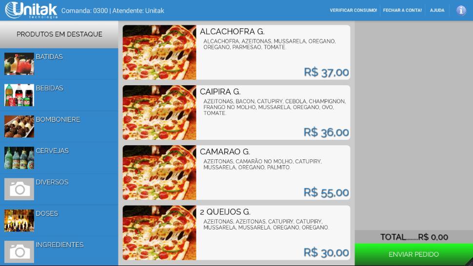 Syscook - Cardápio / Comanda poster