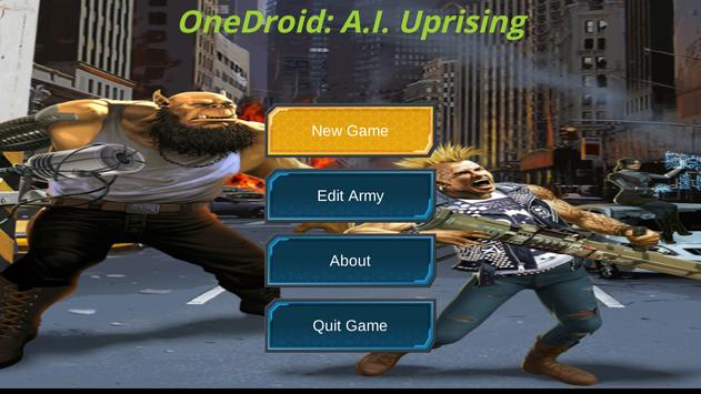 OneDroid A.I. Uprising poster