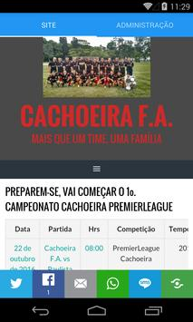 Cachoeira F.A. poster