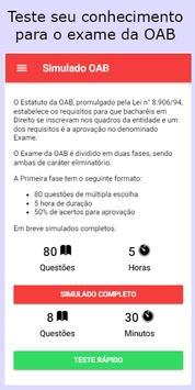 Simulado OAB poster