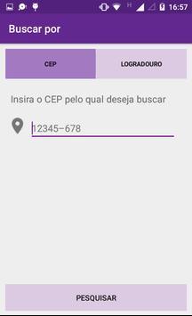 Busca CEP e Logradouro poster