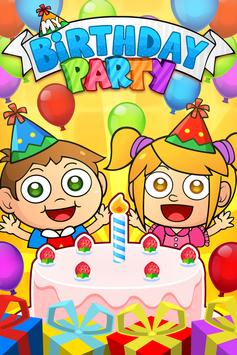 My Birthday Party -  Cakes, Gifts and Friends! poster