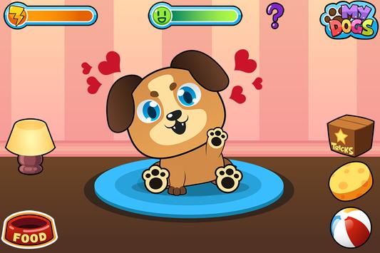 My Virtual Dog - Cute Puppies Pet Caring Game poster