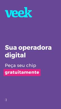 VEEK | Operadora digital, sem planos e contratos Cartaz