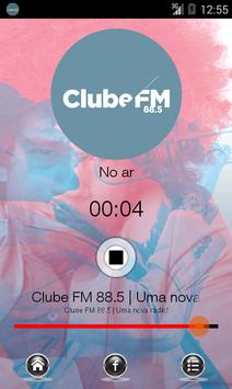 Clube FM 88.5 poster