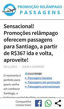 Promoção Relâmpago Passagens screenshot 1