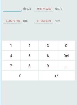 AVU(Angular Verosity Unit) converter screenshot 1