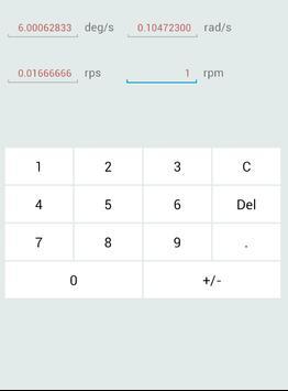 AVU(Angular Verosity Unit) converter screenshot 2