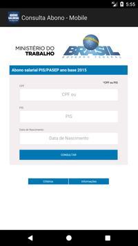 Consulta Abono Salarial - Ministério do Trabalho apk screenshot