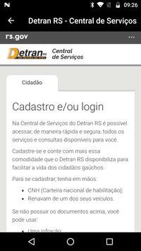 Central de Serviços DETRAN RS poster