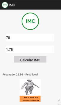 Meu IMC apk screenshot