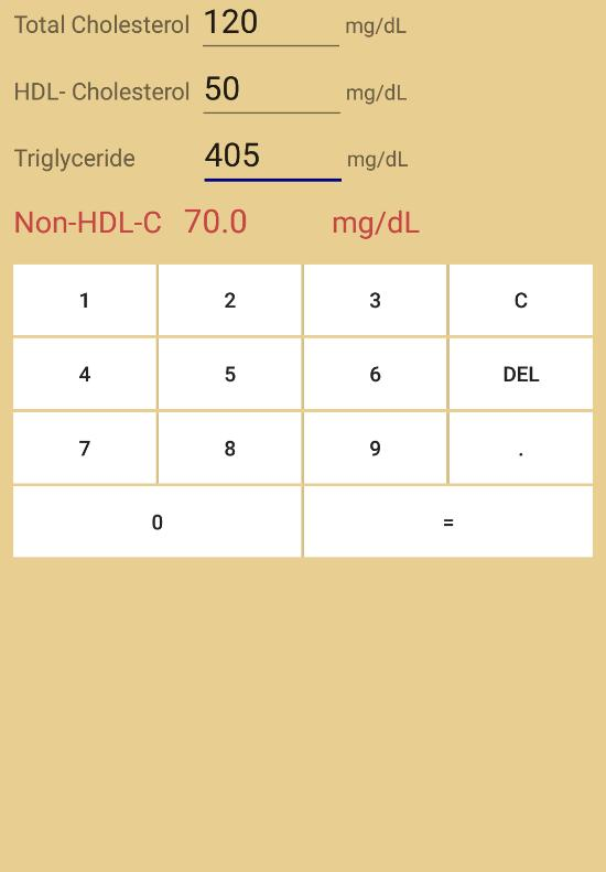 Ldl Cholesterol Calculator For Android Apk Download