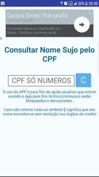 Nome Sujo CPF Consultar Gratis apk screenshot