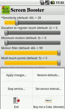 SGS Touchscreen Booster apk screenshot