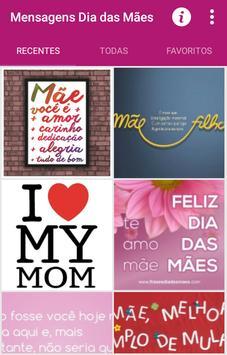 Mensagens Dia das Mães poster
