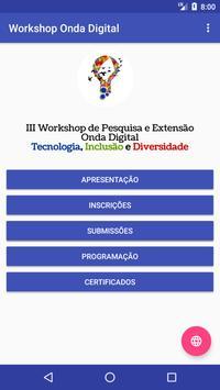 III Workshop de Pesquisa e Extensão Onda Digital apk screenshot