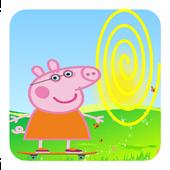 pep pig skateboard adventure icon