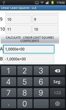 Linear Least Squares apk screenshot