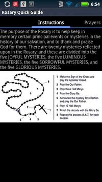 Catholic Rosary Quick Guide poster