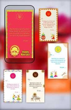 Navratri wishes - Navratri Greetings Card apk screenshot